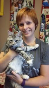 Kristen's kitten Cantor HE