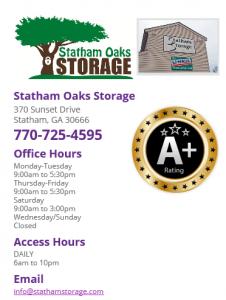 Statham Oaks storage